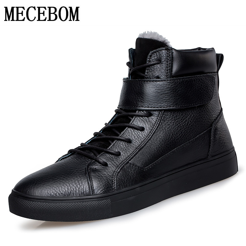 Men boots winter big size 48 genuine leather boots plush warm men casual shoes lace-up ankle boots fur footwear moccasins 5853m xiaguocai new arrival real leather casual shoes men boots with fur warm men winter shoes fashion lace up flats ankle boots h599
