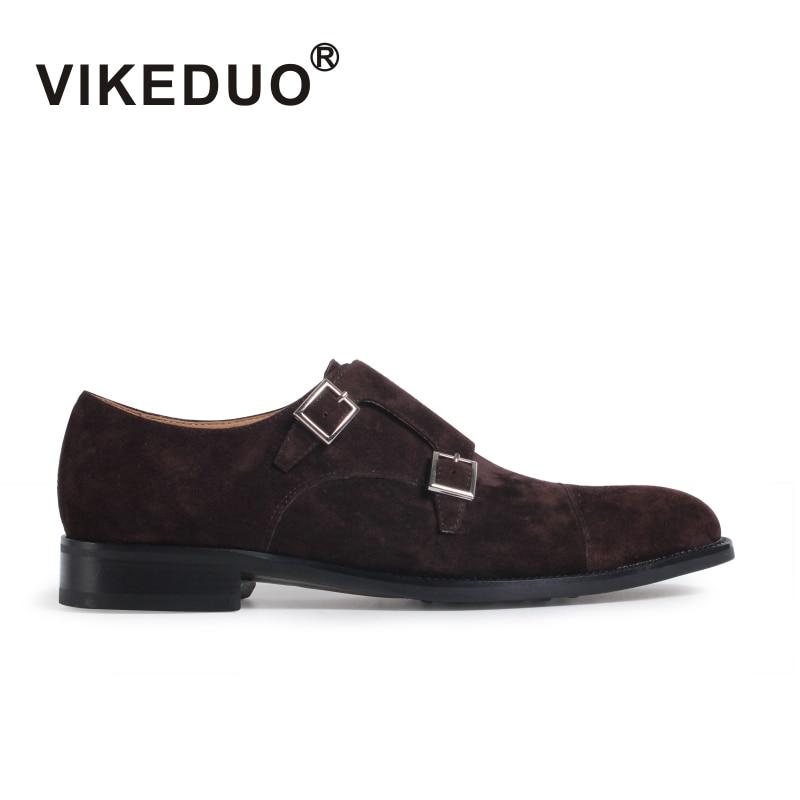Vikeduo 2019 러쉬 핸드 메이드 정품 가죽 버클 패션 비즈니스 오피스 파티 웨딩 리얼 오리지널 디자이너 men monk shoe-에서포멀 슈즈부터 신발 의  그룹 1
