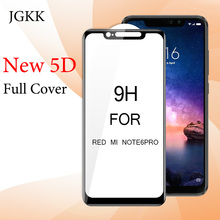 JGKK 5D Curved Tempered Glass For Xiaomi Redmi Note6 Pro Note 6 Full Cover Film for Screen Protector Xiomi Xiaomi Redmi Note 6 5d full curved tempered glass for xiaomi redmi note 6 pro 6 26 9h explosion proof screen protector for redmi note 6 pro global