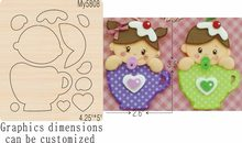 Girls and cups new wooden mould cutting dies for scrapbooking Thickness-15.8mm(China)