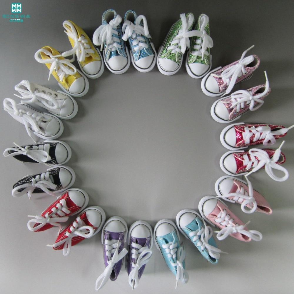 7,5 cm-es mini játékbaba cipő 1/4 BJD baba és 16 hüvelykes Sharon baba számára Alkalmas párosított pántokkal cipők alkalmi cipők