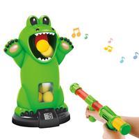 Toy Guns Kids Shooting Toy Crocodile Shooting Safety Innovative Air powered Educational Soft Bullet Gun Crocodile Target