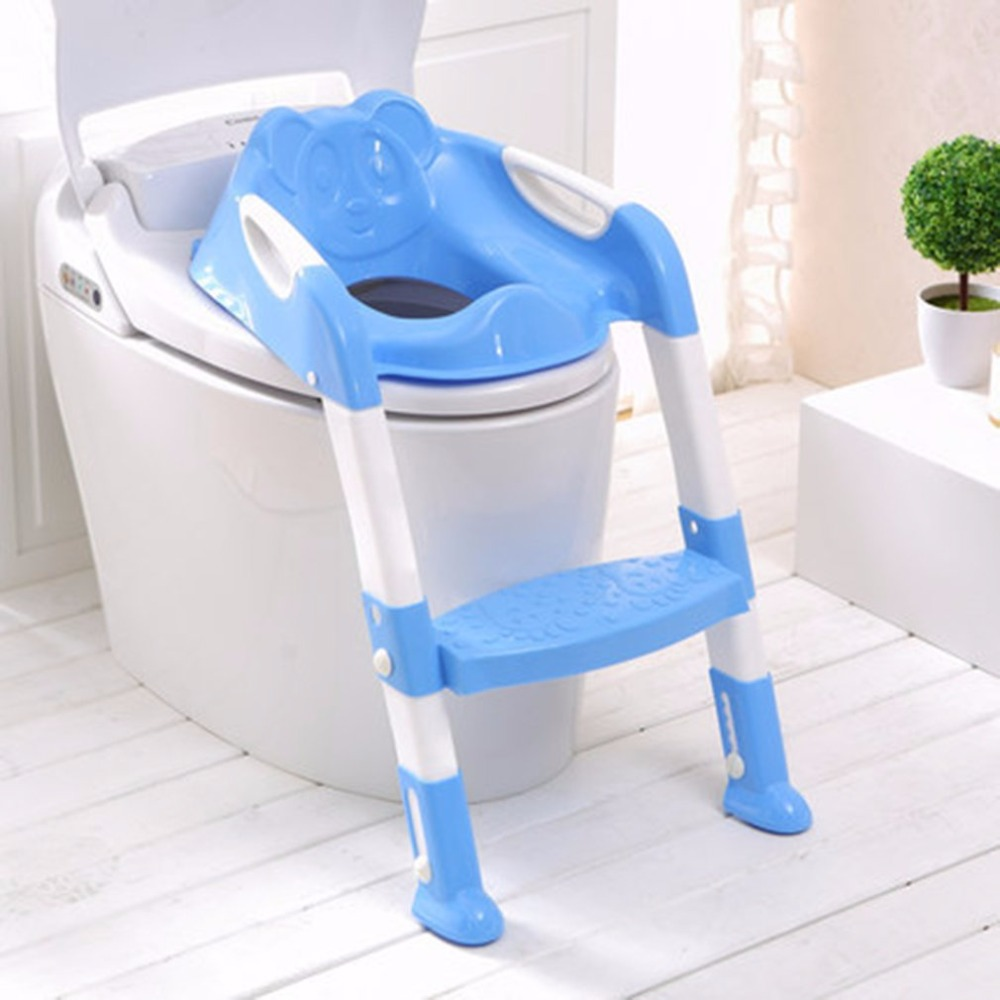 Foldable Children Potty Seat With Ladder Cover PP Toilet Adjustable Chair Pee Training Urinal Seating Potties for Boys Girls new 1pcs urinal gogirl go girl woman urination device 9 5cm stand up pee fud camping travel portable female tiolet