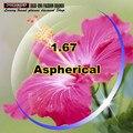 Aspherical lens anti UV lenses Index 1. 67 lens for eye radiation resistance adjusting lens