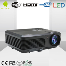 CAIWEI Proyector LCD 1080 P HDMI LED Proyector Digital de Interior Al Aire Libre WIFI Wireless Home Theater Proyector para cine en casa