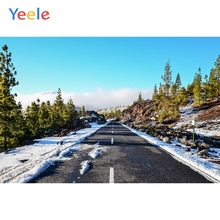 Yeele Winter Landscape Road Snow Room Decor Vast Photography Backdrops Personalized Photographic Backgrounds For Photo Studio