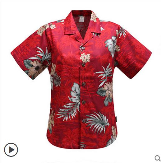 7c6bf11f5e Lovers Casual Hawaiian Leisure Print Loose Shirt Men & Women Cotton Short  Sleeves Beach Resort Shirts Blouse Tops Clothes K38