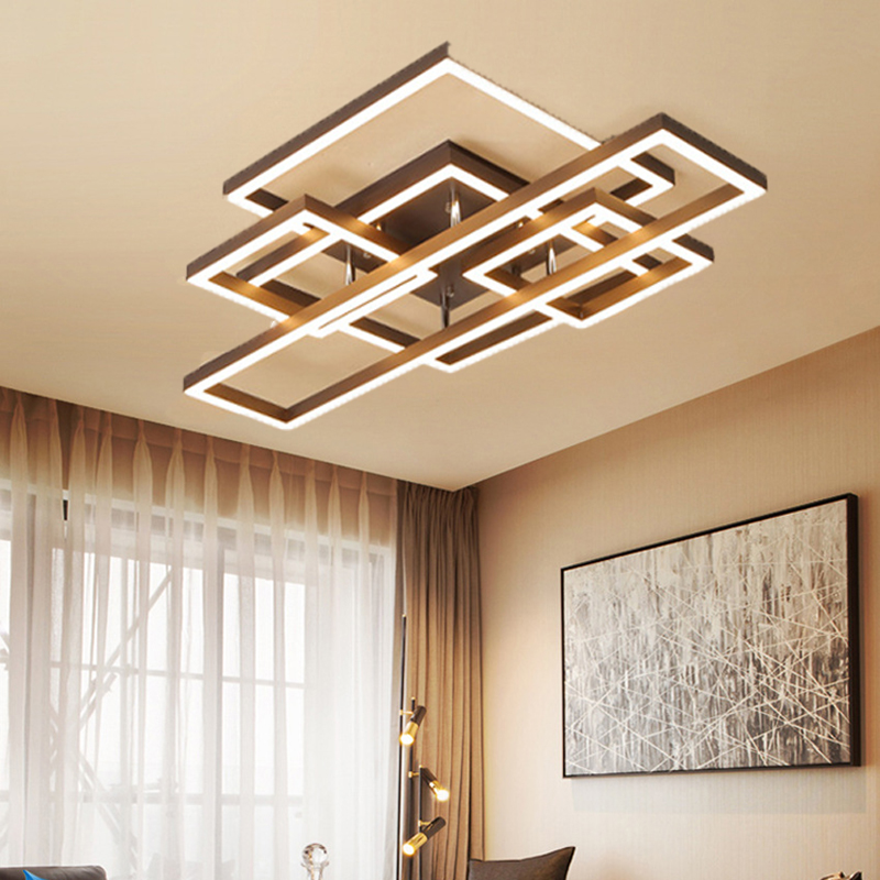 Nordic led lamps modern minimalist creative personality geometric box bedroom room lamp living ceiling