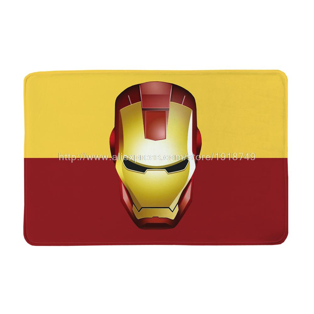 The Iron man Mat Hollywood Movies Printed Custom Anti-Slip Area Rug For Living Room Kitchen Rugs Floor Mats 40x60cm