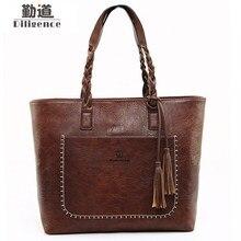 Фотография Tassel Handbags Women Purse Shopper Tote Luxury Designer sac a main High Quality Vintage Big Large Fashion Shoulder Bag Dropship