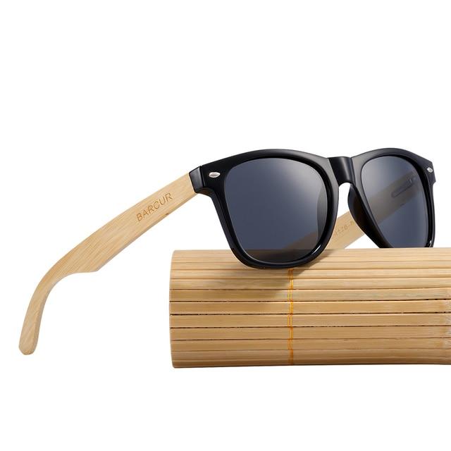 b1e2f97b7f52f BARCUR Trending Produtos 2018 Moda Óculos Polarizados Óculos de Sol De  Madeira de Bambu Óculos De