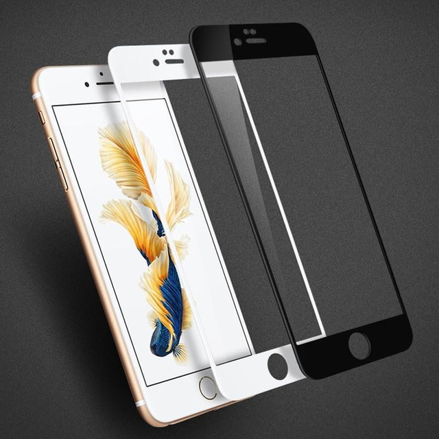 Gulynn 9H 3D Curved Tempered Glass for iphone7 or plus Screen Protector Full Cover Glass film for Iphone 7 with Retail Package