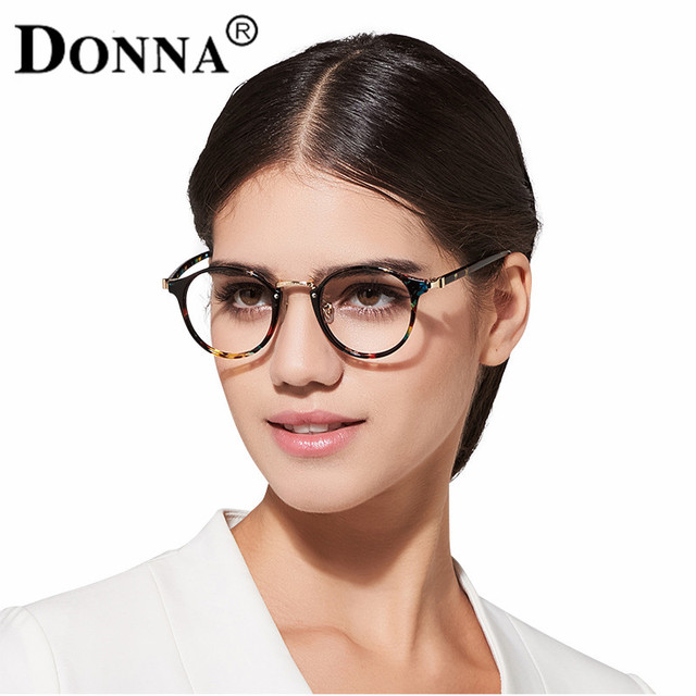 Donna Ladies Vintage Eyewear Glasses Frames Oversize Circle Women Men  Optical Eyeglasses Frame Ultra Light Frame f3f35e9bc4