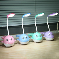 Baby Bedroom Lamps Night Light Whale Desk Lamp Cartoon Sleep 3 Modes Dimmable Led Kids Lamp for Children Great Gift