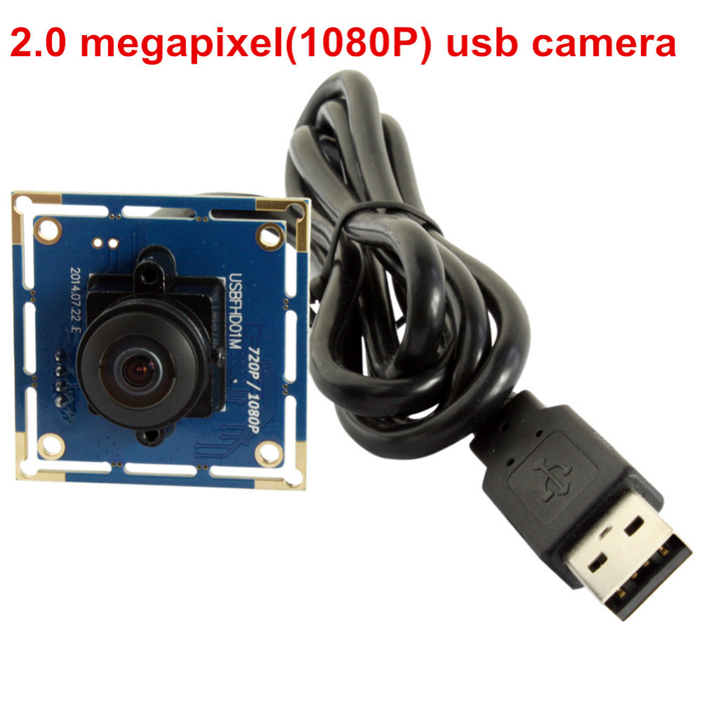 2MP 180 degree fisheye lens usb camera Wide Angle 1080P omnivision OV2710 CCTV video MJP ...