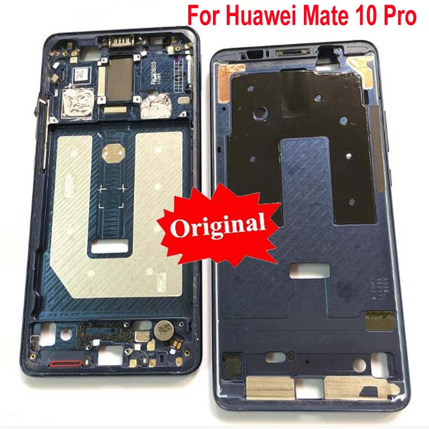 Original LCD Screen Supporting Housing Front Bezel/ Middle Frame With Power Flex Cable Buttons For Huawei Mate 10 Pro Mate10 Pro
