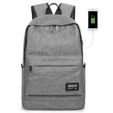USB Male Business Casual Backpack Computer bag Female High School Students Travel Shoulder Tide