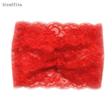Giraffita Women's Lace Headband Bohemian Turban Lace Pattern Headband Head Wrap Fashion Accessories Headwear