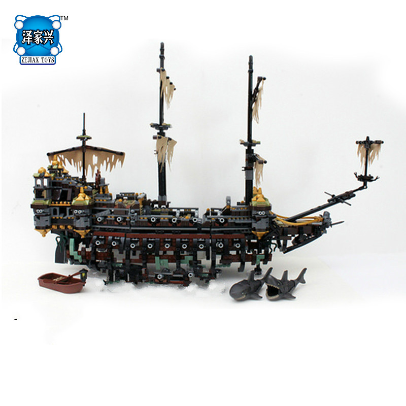 Classic Movie Pirates of The Caribbean Silent Mary Ship Building Block Model Mini Captain Jack Figures Lepine Bricks Figures Toy hot classic movie pirates of the caribbean imperial warships building block model mini army figures lepins bricks 10210 toys