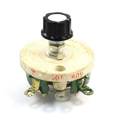 Wirewound Ceramic Potentiometer Variable Rheostat Resistor 50W 100 Ohm wirewound ceramic potentiometer adjustable rheostat resistor 50w 1r 2r 5r 10r 20r 30r 50r 100r 200r 300r 500r 1kr 2kr 3kr
