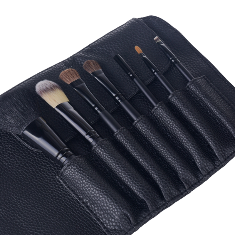 Black Makeup brushes kabuki cosmetic beauty tools powder face brushes (6)