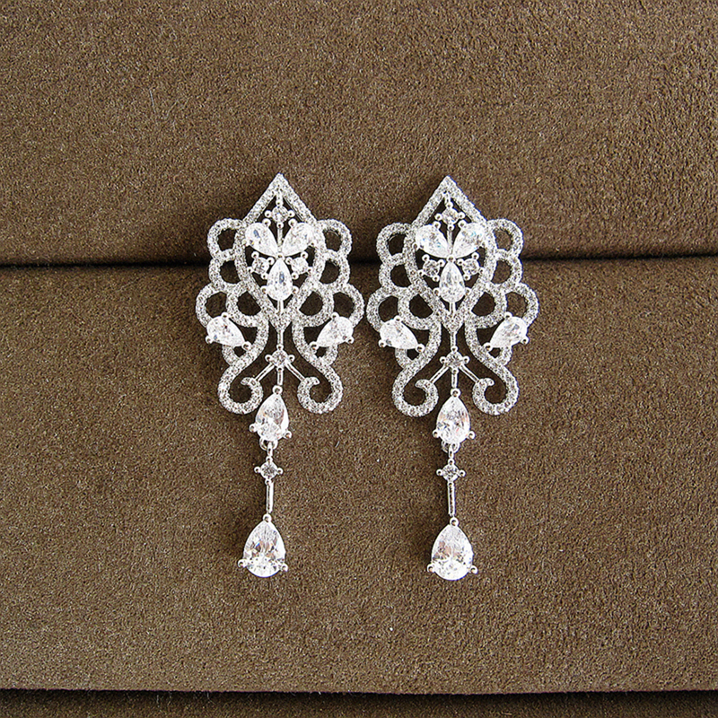 Fashion AAA cubic zirconia Retro Style Earrings ,womens accessaries,EC016