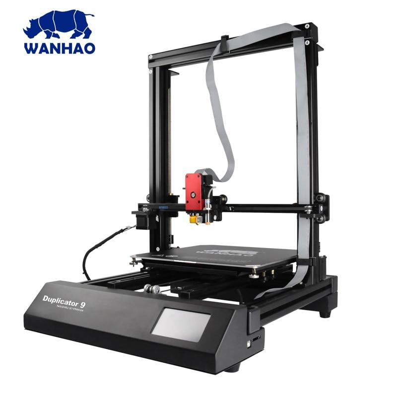 лучшая цена New Wanhao FDM Desktop 3D Printer Machine Duplicator 9 (D9) D9/300 With Auto Leveling Big Print size 300*300*400mm Free Shipping