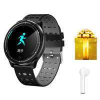 Smart wearable device sports watches blood pressure heart rate measurement for android ios phone VS L6 L2 L1 DT28 +earphone gift