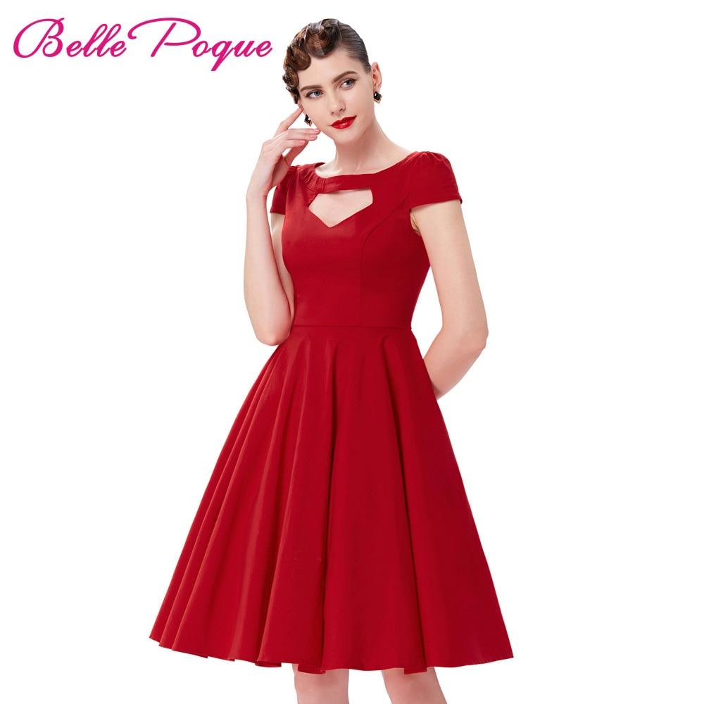 Belle Poque Summer Dresses 2017 Solid Black Red Green Cap ...