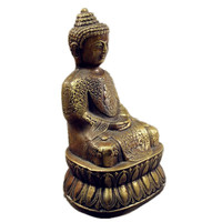 Sakyamuni Buddha Statue Tibetan Brass Buddhism Figurines Art Craft Home Decoration L3431
