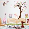 Большой мультфильм животных деревья детский сад детская комната украшения фона могут быть удалены из