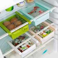 Kitchen Fridge Space Saver Storage DIY Slide Under Shelf Rack Organizer Holder