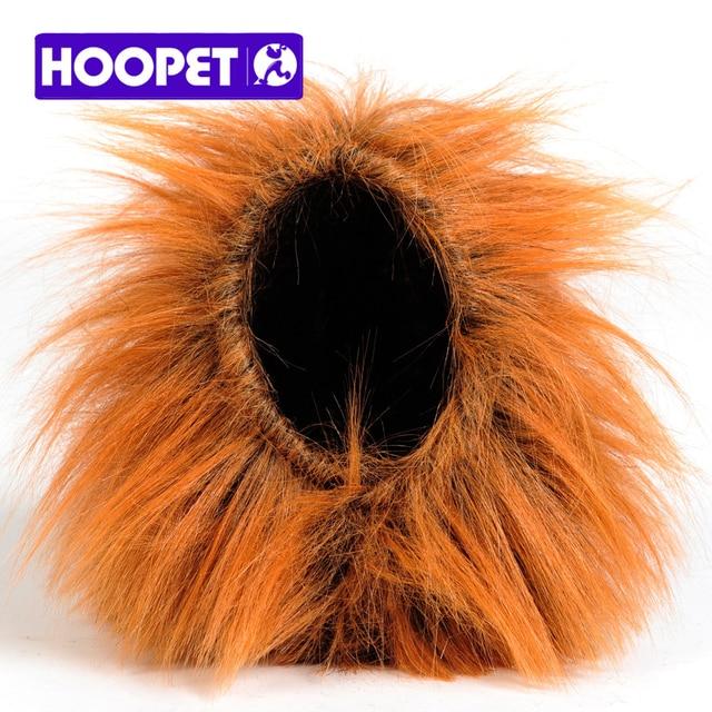 2a88525cf HOOPET Cat Funny Wig lion headgear Hat Cat Small Dog Collar Wig Warm Cat  Supplies Accessories Halloween Costume Pet Jewelry