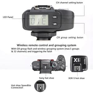 Image 5 - GODOX X1R S TTL 2.4 جرام 1/8000 ثانية HSS اللاسلكية فلاش استقبال لسوني A58 A7RII A7II A99 A7R a6300 X1T S Xpro S الزناد الارسال