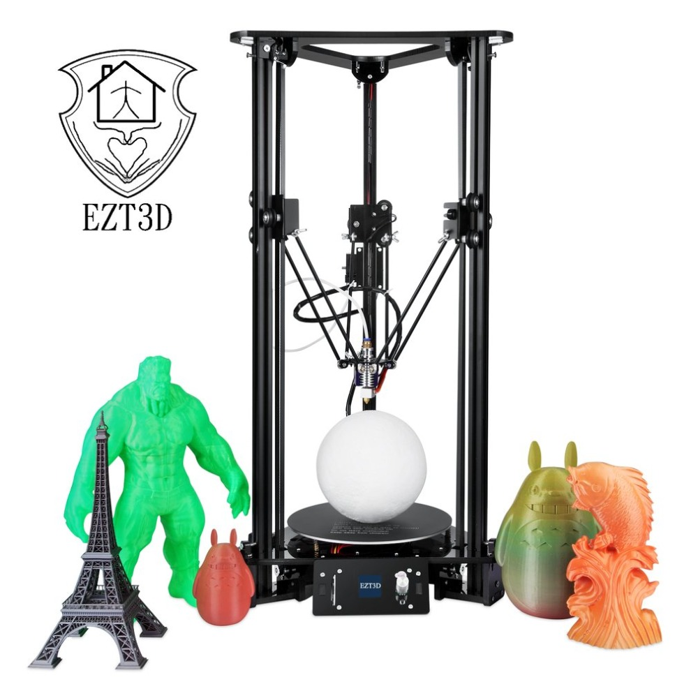LCD Color Screen 3D Printer Auto Change Material Intelligent Leveling Triangle Delta 3D Printer with 1KG