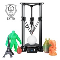 LCD Color Screen 3D Printer Auto Change Material Intelligent Leveling Triangle Delta 3D Printer with 1KG White PLA
