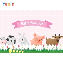 Yeele Baby Shower Backdrop Cartoon Animals Lawn Photography Backdrops Personalized Photographic Backgrounds For Photo Studio