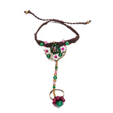 Handmade Handcuffs Beaded Chain Hand-Woven String Chain Bracelets for Women Bohemian Bracelet Jewelry(China)