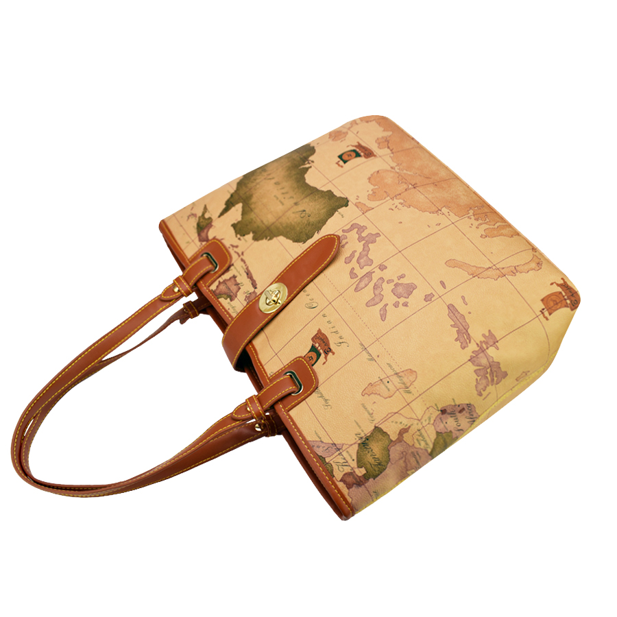High quality world map women bag fashion handbag high capacity high quality world map women bag fashion handbag high capacity school bags brand design tote bag casual shoulder bags hc z 981 in shoulder bags from luggage gumiabroncs Choice Image