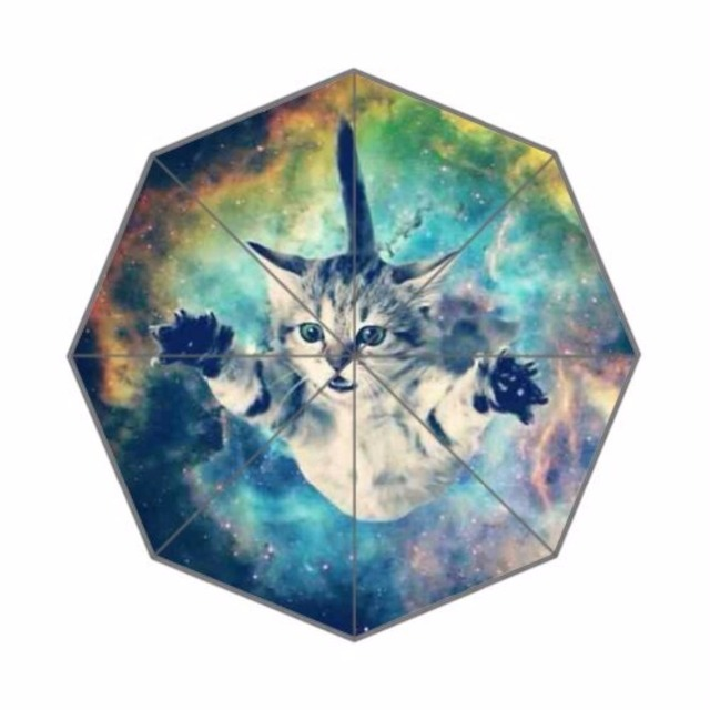 f856adb1decc US $20.99 |Galaxy Hipster Cat Foldable Rain Umbrella 3 Folding Parasol Sun  Protection Anti UV 100% Fabric And Aluminium Umbrella for Women-in ...