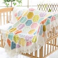 100% ручной работы лилии Одеяло DIY Craft Вязание хлопковые нитки для вязания Одеяло для взрослых 120*140 см