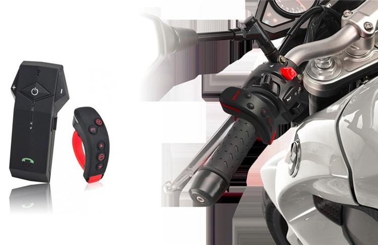 1PCS 1000m Motorbike Moto Helmet Bluetooth Intercom Stereo Headset Handsfree BT Interphone Earphones with NFC FM+Remote Control  (12)