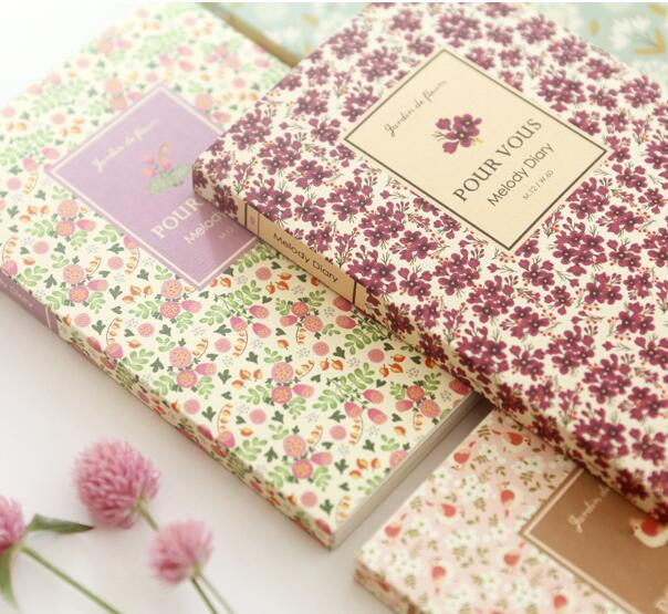 цена на Floral Theme Undated DIY Agenda 176P Colorful Sheets 12.5*18.5cm Sweet Monthly Weekly Plan Book