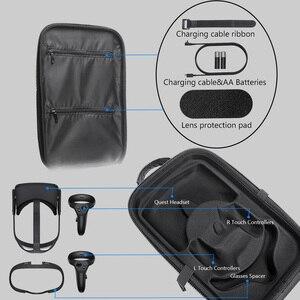 Image 4 - الصلب للماء حالة ل كويست Oculus الواقع الافتراضي VR نظارات و اكسسوارات للصدمات حقيبة للتخزين السفر حمل الغلاف