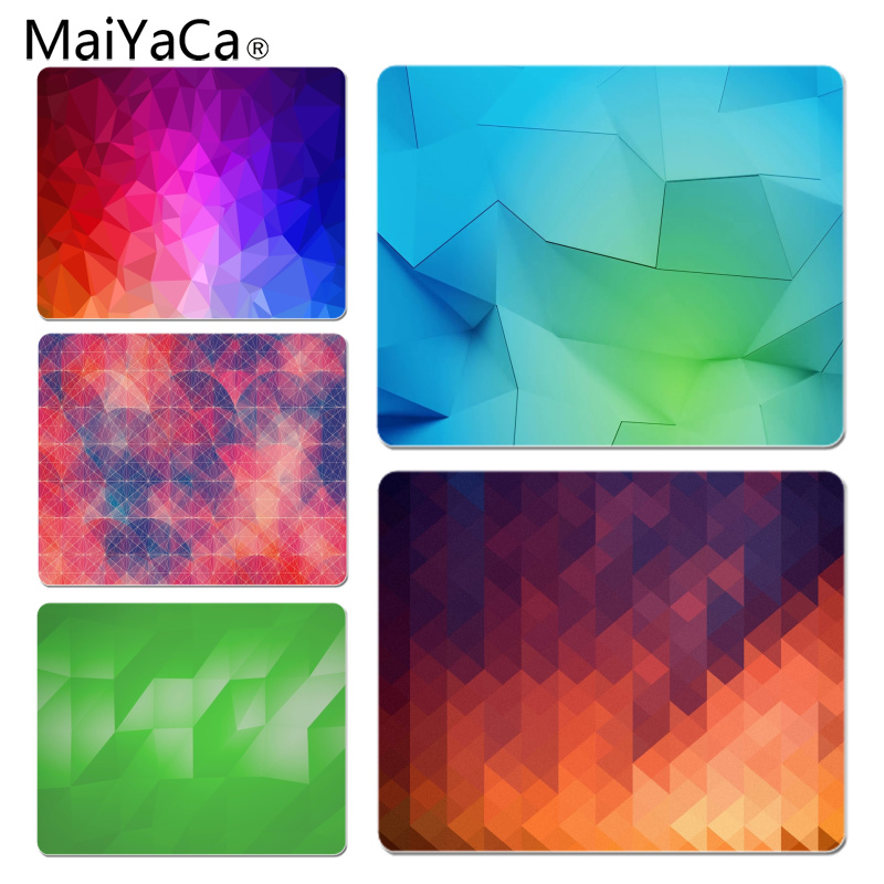 MaiYaCa Vintage Cool Blurred Geometric Customized laptop Gaming mouse pad Size for 18x22cm 25x29cm Rubber Mousemats