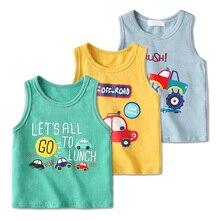 Детское нижнее белье, 3 упаковки хлопковая одежда с рисунками из мультфильмов жилет для новорожденных детская футболка детская одежда топы для мальчиков и девочек