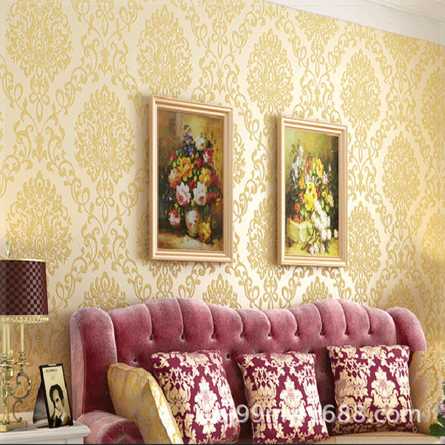 papel de parede vintage embossing non woven fabrics wallpaper ...
