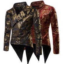 blazer men Tuxedo suits designs Bronzing road jacket mens stage costumes for singers clothes dance star style dress punk rock
