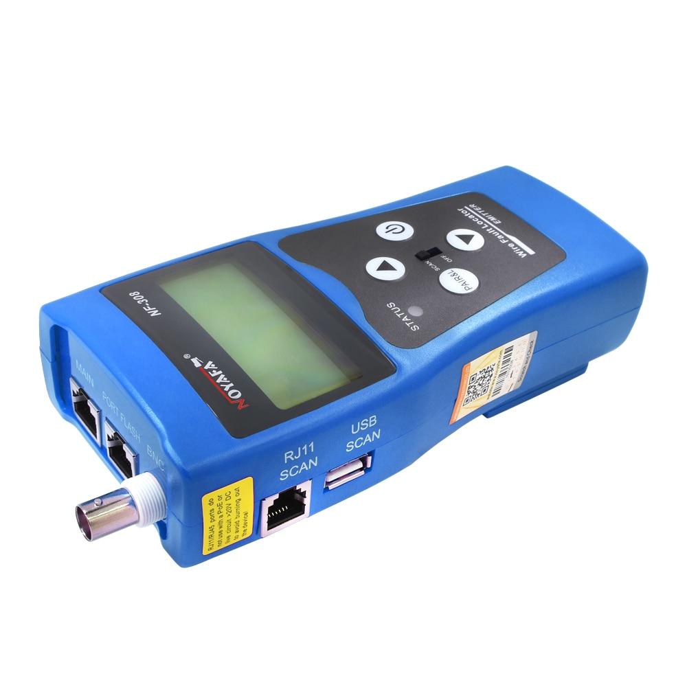 Noyafa NF-308 NF 308 moniteur réseau téléphone câble testeur RJ45 RJ11 LCD BNC USB Toner fil Tracker localisateur ligne Finder outil - 4