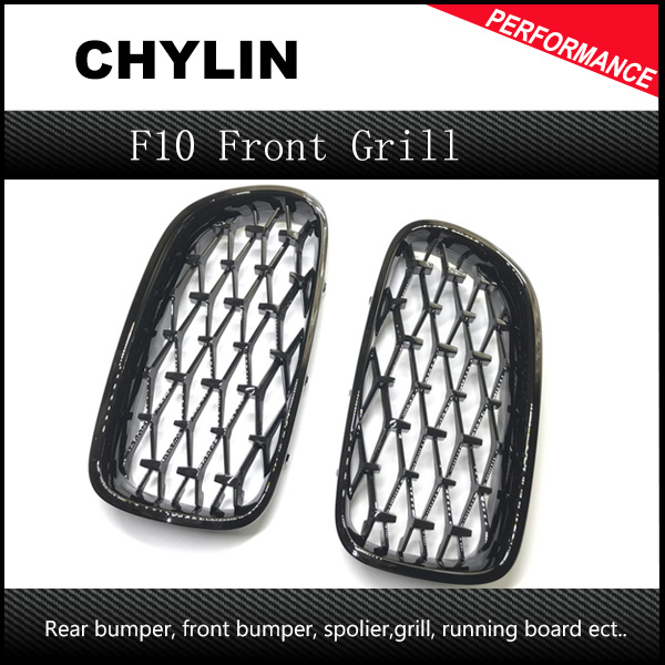 Newest Diamond Style 2010-2016 One Pair Abs 5 Series F10 Mesh Grill for Bmw F10 F11 <font><b>F18</b></font> Car Front Grill image